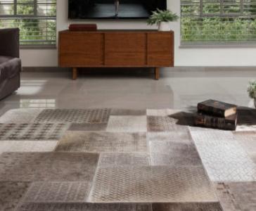 שטיח פרינטי אפור