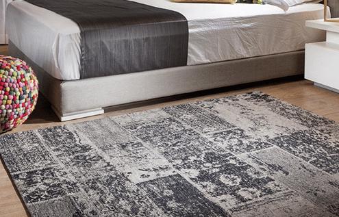 שטיח פטרה אפור שחור