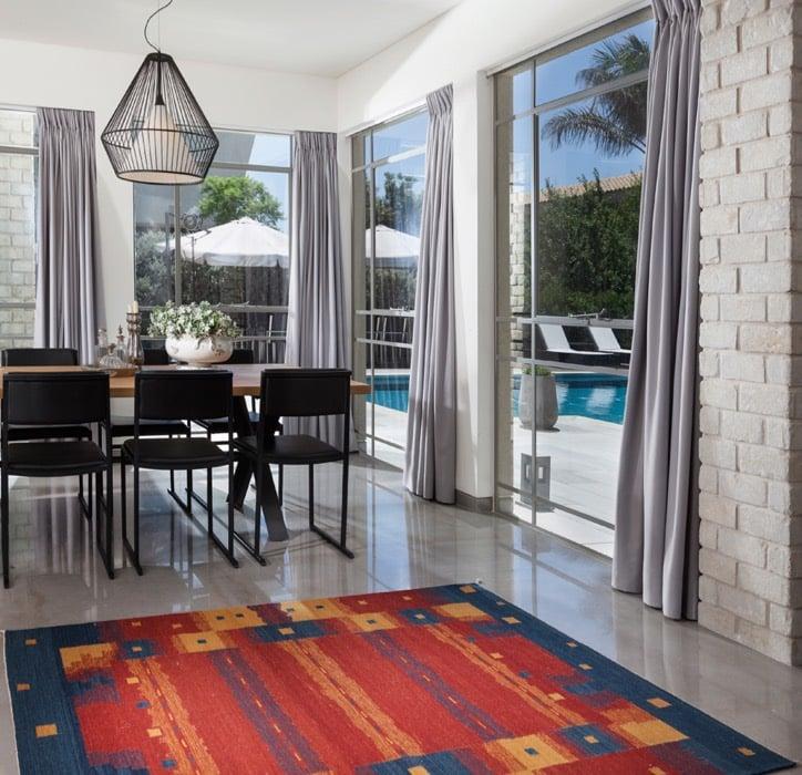 שטיח דפיאן אדום כחול