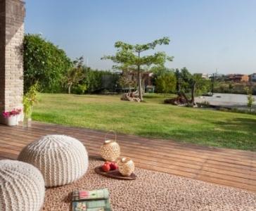 שטיח לרגה חום טבעי