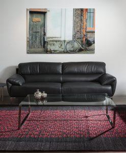 שטיח אלקטרה בצבע אדום שחור
