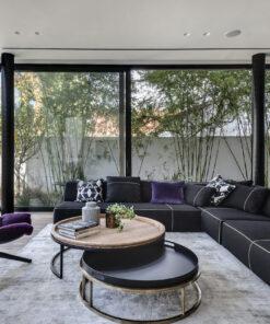 שטיח גזאל אפור לסלון