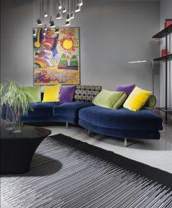שטיח נדין בצבע שחור לבן