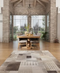 שטיח פרינטי לחדר אוכל