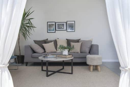 שטיח סיגרם לסלון בצבע גריג