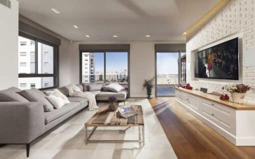 שטיח טליה לסלון בצבע בז