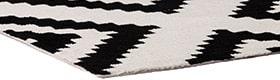 שטיחים בצבע שחור לבן